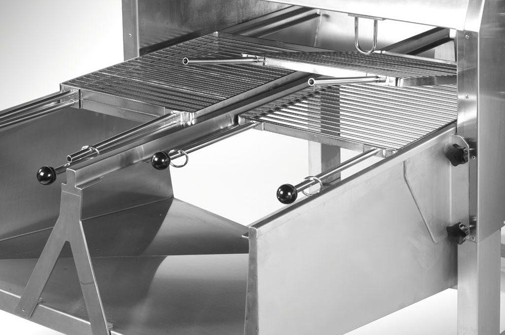 Griglia doppia griglia a libro per barbecue emmegi for Griglia per barbecue bricoman